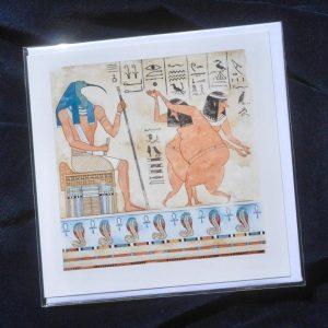 Egyptian Fresco - Heavenly Bodies - Greetings Card