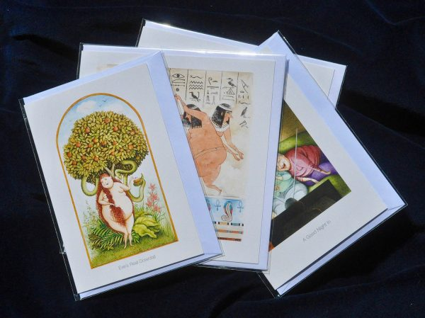 Heavenly Bodies Greetings Cards by Sandy Nightingale