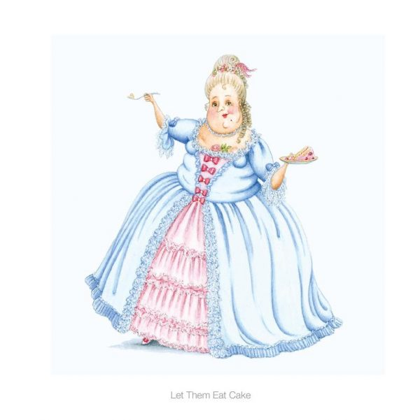 Let Them Eat Cake - Heavenly Bodies Greetings Card